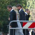 Andriy Chevtchenkoet Paolo Maldini lors du mariage de l'ancien dirigeant du PSG Leonardo avec Anna Billo à Osnago en Italie, le 7 septembre 2013