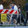 Leonardo et sa petite famille lors de son mariage avec Anna Billo à Osnago en Italie, le 7 septembre 2013