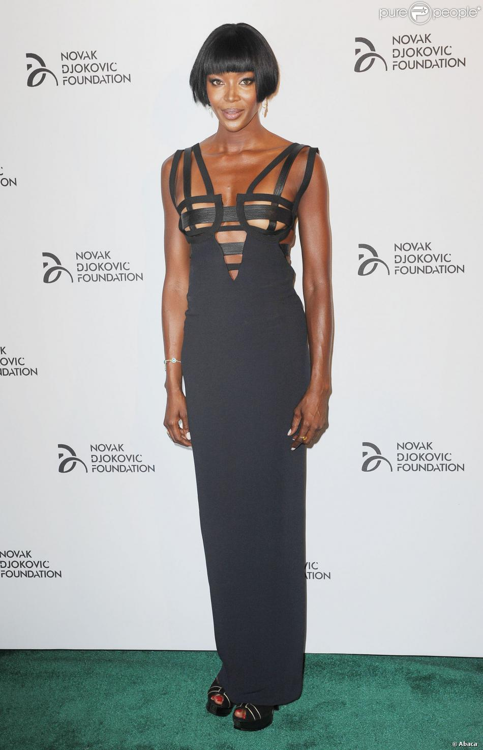 Naomi Campbell assiste au dîner de gala de la Novak Djokovic Foundation au Capitale. New York, le 10 septembre 2013.