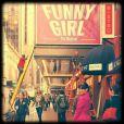 Lea Michele dans les rues de New York, pour la 5e saison de Glee, le 9 septembre 2013.