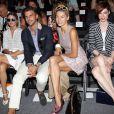Olivia Palermo, Johannes Huebl, Jessica Hart, Coco Rocha et Nicole Trunfio assistent au défilé Rachel Zoe Show printemps-été 2014 au Lincoln Center. New York, le 11 septembre 2013.