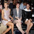 Jessica Hart, Coco Rocha et Nicole Trunfio assistent au défilé Rachel Zoe printemps-été 2014 au Lincoln Center. New York, le 11 septembre 2013.