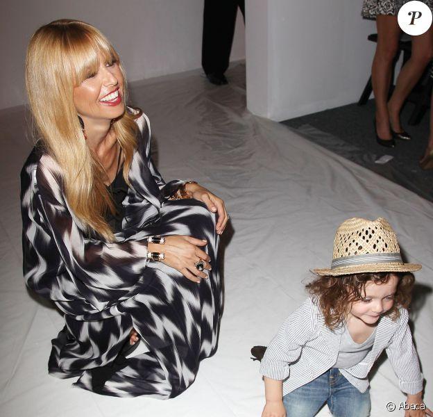 Rachel Zoe et son fils Skyler Berman lors de son défilé printemps-été 2014 au Lincoln Center. New York, le 11 septembre 2013.