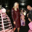 """La princesse Mette-Marit de Norvège a profité de sa venue à Paris pour inaugurer la biennale Révélations au Grand Palais pour faire un crochet par l'exposition """"La mecanique des dessous"""" au Musée des Arts Decoratifs au Louvre, le 11 septembre 2013"""