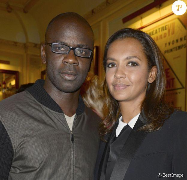 Lilian Thuram et Karine Le Marchand à Paris le 24 juin 2013.