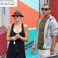 Gwen Stefani enceinte et son mari Gavin Rossdale vont chercher leur fils Zuma à Los Angeles, le 11 septembre 2013.