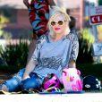 Gwen Stefani, enceinte, dans un parc à Santa Monica, le 15 septembre 2013.