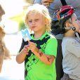 Gwen Stefani, enceinte, a emmené ses enfants Kingston et Zuma dans un parc à Santa Monica, le 15 septembre 2013.