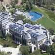 Vue aérienne de la demeure de Gisele Bündchen et Tom Brady à Brentwood du côté de Los Angeles, le 2 juin 2013