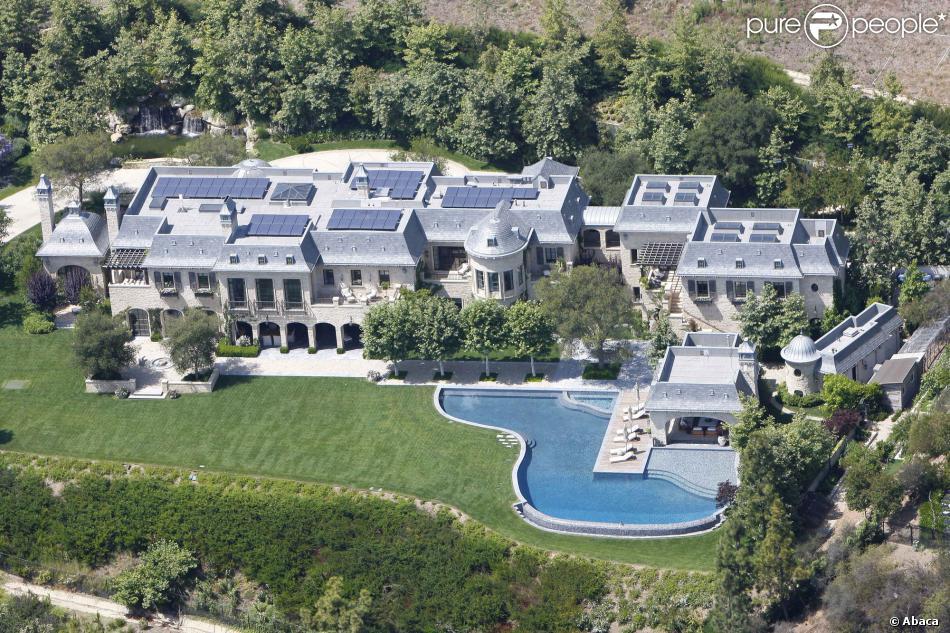 La sublime demeure de Gisele Bündchen et Tom Brady à Brentwood du côté de Los Angeles, le 2 juin 2013