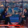 Sophia Aram et Elie Semoun dans  Jusqu'ici tout va bien , sur France 2, le mardi 17 septembre 2013.