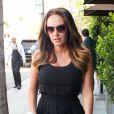 Tamara Ecclestone lors d'une sortie famille en compagnie de sa jeune soeur Petra et de sa nièce Lavinia, dans les rues de Beverly Hills, le 19 septembre 2013