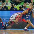 Tony Parker, déterminé lors de la demi-finale de l'EuroBasket à Ljubljana face à l'Espagne, le 20 septembre 2013