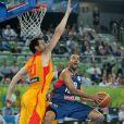 Tony Parker, monte au panier lors de la demi-finale de l'EuroBasket à Ljubljana face à l'Espagne, le 20 septembre 2013