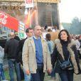 Jean-François Copé et son épouse Nadia au festival les Musik'Elles à Meaux le 21 septembre 2013.