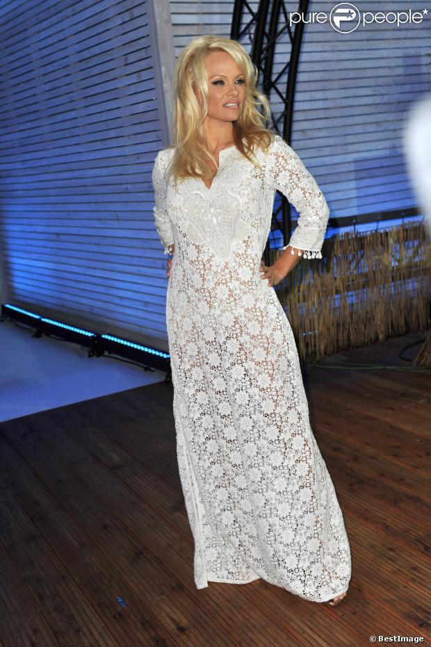 "Pamela Anderson lors de l'émission ""Big Brother"" à Berlin le 24 septembre 2013."
