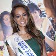 Hinarani de Longeaux, première dauphine de Miss France 2013, au salon Top Resa à Paris, Porte de Versailles, le 25 septembre 2013.