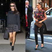 Victoria Beckham vs Jessica Alba : Qui adopte le mieux la tendance carreaux ?