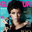 Rihanna photographiée par Terry Tsiolis et habillée d'un body Christian Dior pour le magazine Glamour. Octobre 2013.