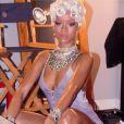 Rihanna sur le tournage du clip de Pour it Up, extrait de son septième album Unapologetic.