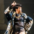 Rihanna en concert à la Rod Laver Arena à Melbourne. Le 30 septembre 2013.