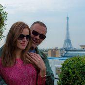 Christian Audigier et sa jolie Nathalie Sorensen : Touristes romantiques à Paris