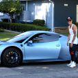Justin Bieber avec sa Ferrari à Los Angeles, le 15 août 2013.