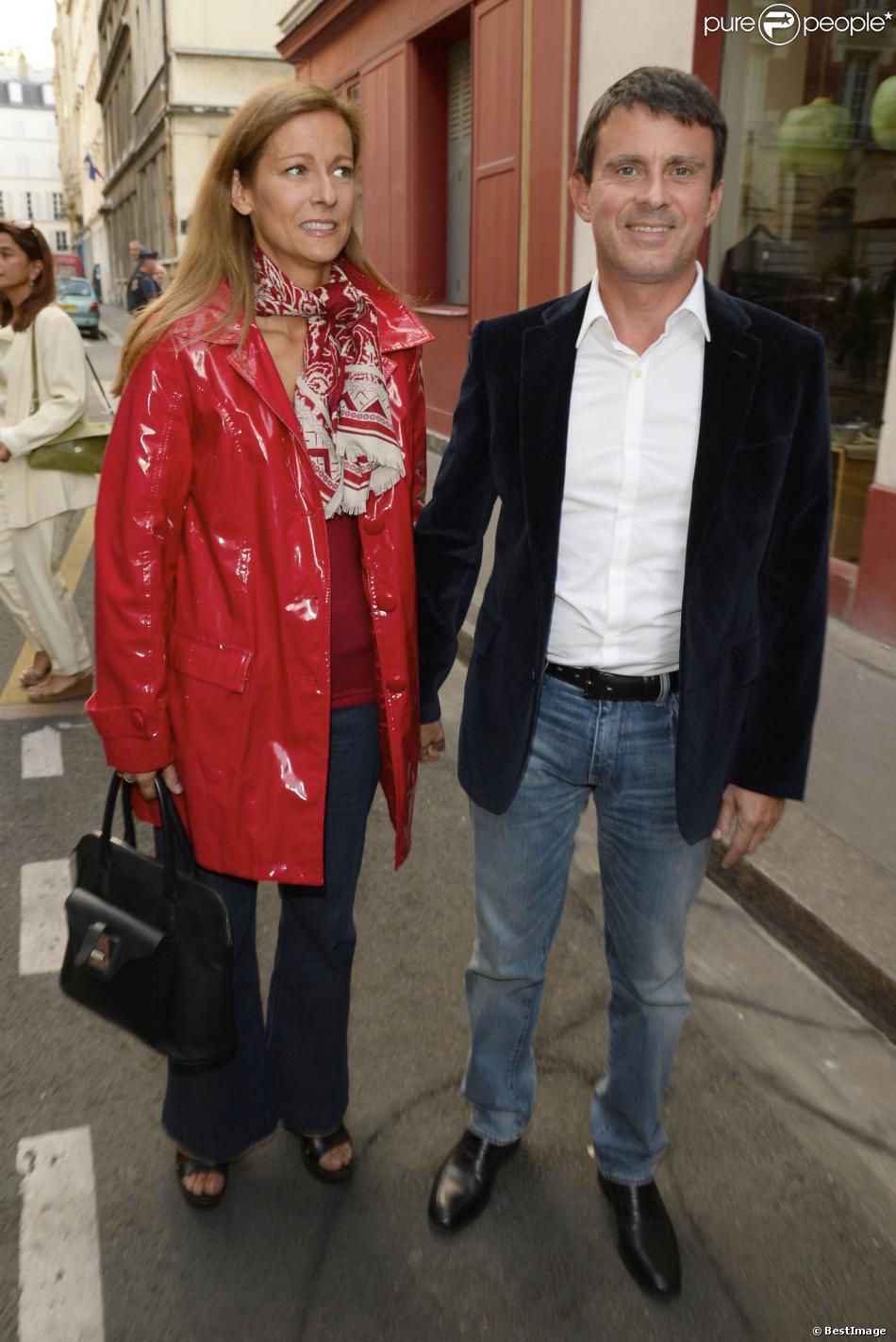 Anne Gravoin et son mari Manuel Valls à Paris le 8 septembre 2013.