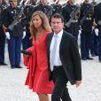 Anne Gravoin et son mari Manuel Valls à l'Elysée le 3 septembre 2013.
