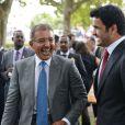 Le Cheikh Abdullah Bin Khalifa Al Thani et le Cheikh Joan Bin Hamad Al ThaniauQatar Prix de l'Arc de Triomphe à Longchamp le 6 octobre 2013.
