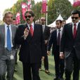 Hamad bin Khalifa al-Thanilors duQatar Prix de l'Arc de Triomphe à Longchamp le 6 octobre 2013.