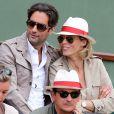 Sylvie Tellier et son nouveau compagnon et futur papa au tournoi de Roland-Garros, le 2 juin 2013.