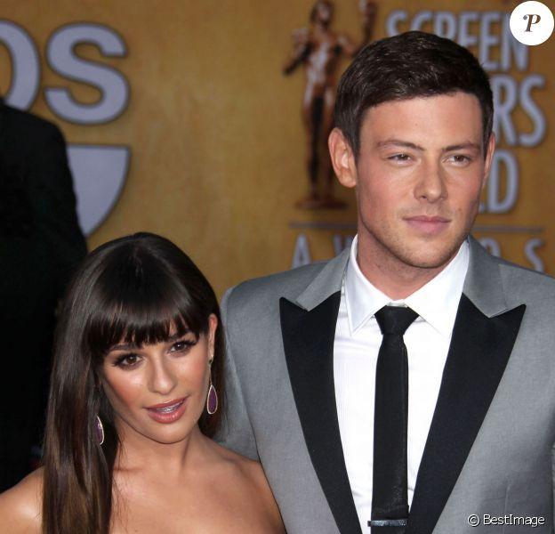Lea Michele et Cory Monteith à la cérémonie des SAG Awards 2013 à Los Angeles, le 27 janvier 2013.