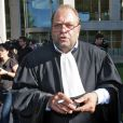 Eric Dupond-Moretti, avocat des joueurs de handball Nicola et Luka Karabatic, devant la cour de justice de Montpellier le 2 octobre 2012