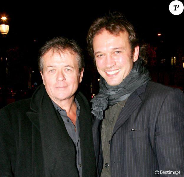 Patrice Chéreau et Vincent Perez à Paris le 13 novembre 2006 pour l'avant-première du film Pardonnez-moi