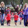 Heidi Klum en famille le 13 octobre 2013 à Los Angeles
