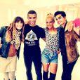 Laetitia Milot a posté sur son compte Twitter au côté de son partenaire Christophe Licata et Brahim Zaibat.