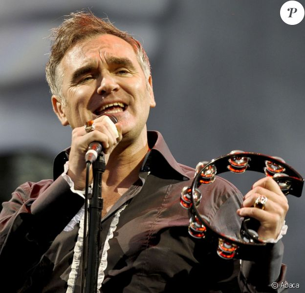 Morrissey au festival de Glastonbury, le 24 juin 2011.