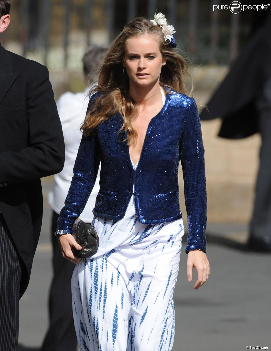 Cressida Bonas, petite amie du prince Harry, au mariage de Thomas van Straubenzee et Lady Melissa Percy le 22 juin 2013