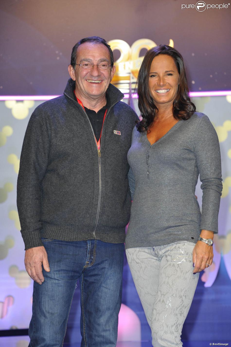 Jean-Pierre Pernaut et Nathalie Marquaylors du 20ème anniversaire de Disneyland Paris, le 23 mars 2013