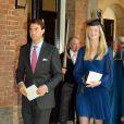 William van Cutsem et sa femme Rosie au baptême du prince George de Cambridge, premier enfant du prince William et de Kate Middleton, en la chapelle royale du palais Saint James, à Londres, le 23 octobre 2013.