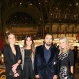 Henri Leconte, sa femme Florentine et sa fille Sara Luna lors de la soirée d'inauguration de la FIAC au Grand Palais à Paris le 23 octobre 2013
