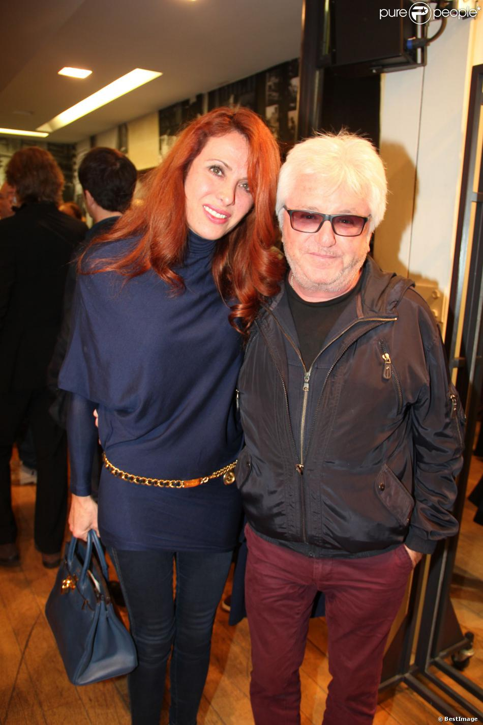 Marc Cerrone et sa femme Jill lors des 50 ans de la boutique Renoma, à Paris, le 22 octobre 2013