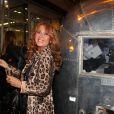 Julie Pietri lors des 50 ans de la boutique Renoma, à Paris, le 22 octobre 2013
