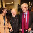Henry Chapier et Maurice Renoma lors des 50 ans de la boutique Renoma, à Paris, le 22 octobre 2013