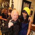 Maurice Renoma lors des 50 ans de la boutique Renoma, à Paris, le 22 octobre 2013