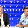 Laurent Ruquier et Nicolas Bedos, sur le plateau d' On n'est pas couché , le samedi 26 octobre 2013.