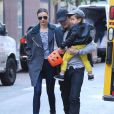 Miranda Kerr et Orlando Bloom à New York pour Halloween, avec leur fils Flynn, le lundi 28 octobre 2013.