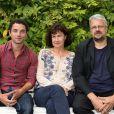 Guillaume Gouix, Anne Le Ny et Sylvain Chomet lors du Festival du film francophone d'Angoulême le 25 août 2013