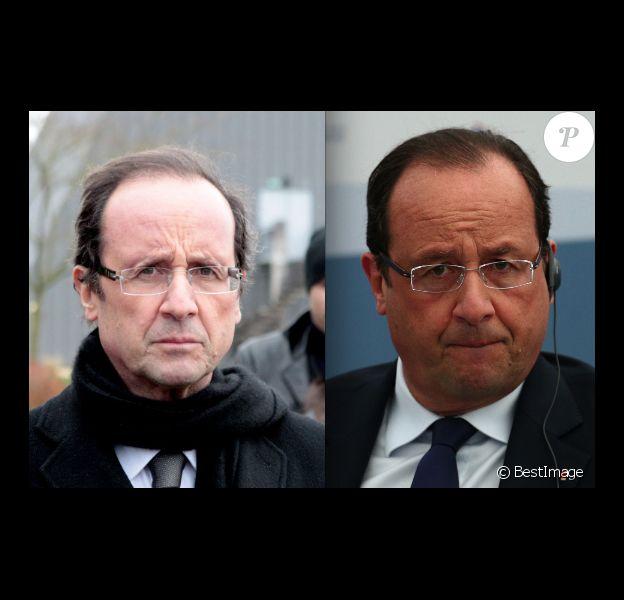 François Hollande en 2011 (à gauche) et en 2013 (à droite)